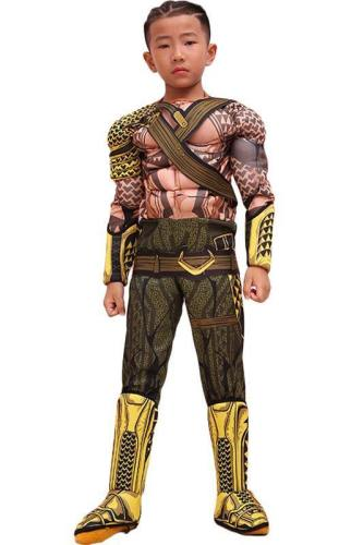 Aquaman Arthur Curry Outfit Cosplay Costume For Kids Children