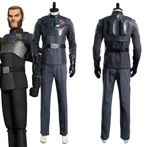Star Wars Rebels Agent Kallus Top Pants Outfits Halloween Carnival Suit Cosplay Costume