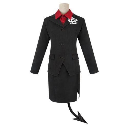Game Helltaker Modeus Women Shirt Uniform Skirt Tail Outfits Halloween Carnival Suit Cosplay Costume