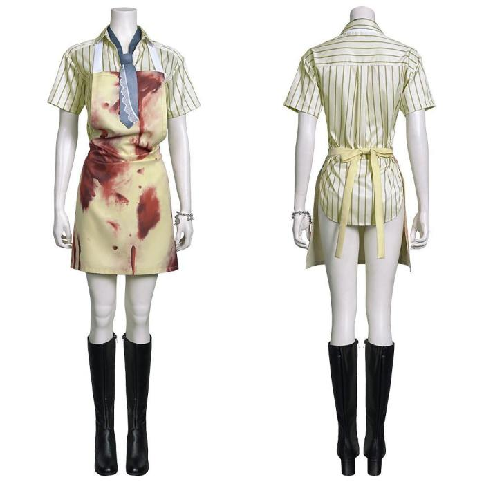 Texas Chainsaw Massacre Leatherface Thomas Hewitt Shirt Apron Outfits Halloween Carnival Suit Cosplay Costume