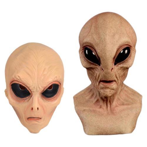 Horror Ufo Big Eyes Alien Full Head Party Helmet Masquerade Cosplay