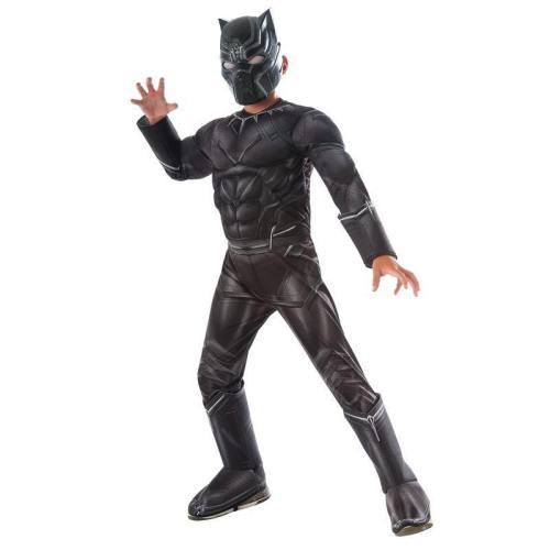 Boys Civil War Black Panther Deluxe Superhero Halloween Cosplay Costume