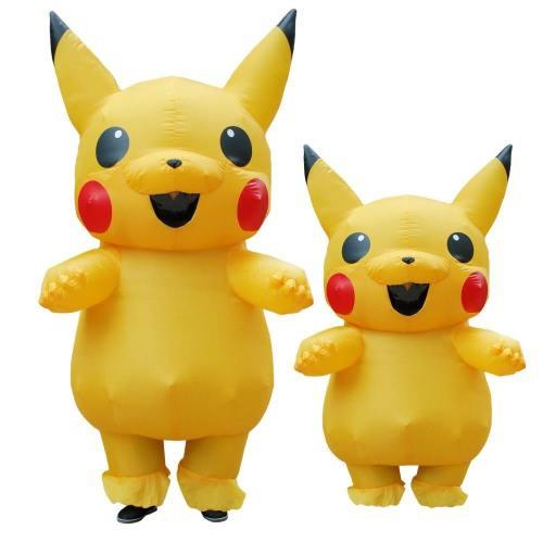 Inflatable Pika Pikachu Halloween Costume Cosplay For Kids Adult