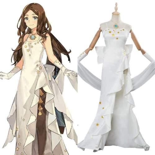Fate/Grand Order Leonardo Da Vinci Cosplay Costume White Gown
