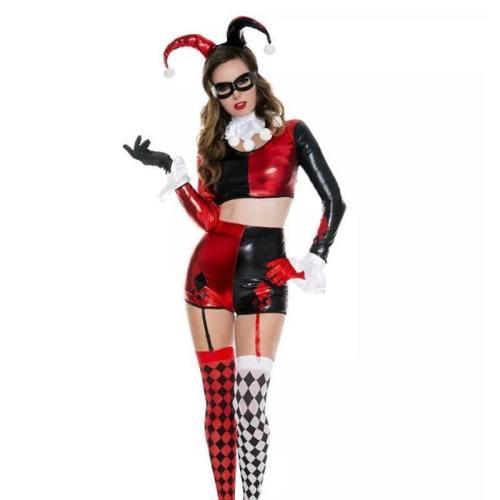 Halloween Women Joker Sexy Dress Costume