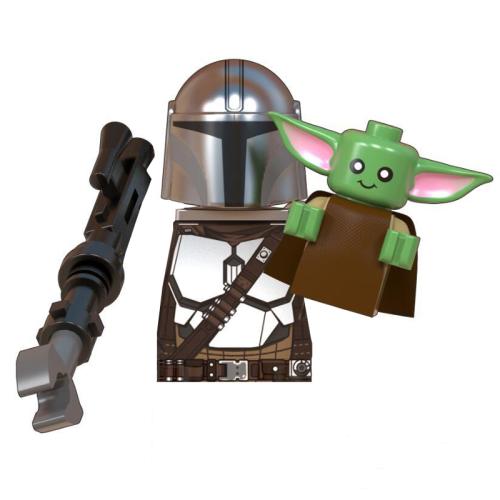 The Mandalorian Baby Yoda Grogu Assembled Action Figure Blocks Toys