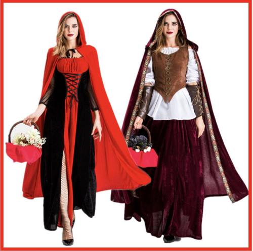Little Red Riding Hood Long Dress Costume Queenhood