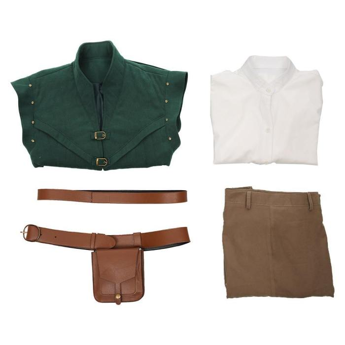Tangled-Flynn Rider Vest Shirt Outfits Halloween Carnival Suit Cosplay Costume