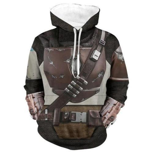 Star Wars The Mandalorian Hoodie Cosplay Costume Sweater Coat Jacket Pedro Pascal Mandalorian Soldier Warrior Star Wars Prop