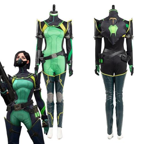 Valorant Viper Women Jumpsuit Romper Suit Halloween Carnival Outfit Cosplay Costume