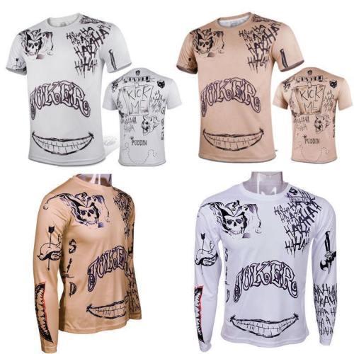 Suicide Squad T-Shirt Joker Tattoos Costume T-Shirt