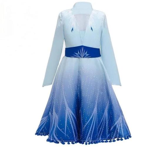 Girls Princess Elsa 2 Dress Set Christmas Cosplay Birthday Costumes