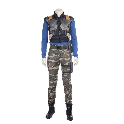 Black Panther Erik Killmonger Costume Halloween Cosplay Party Suit