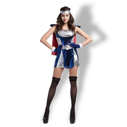 Captain America Sexy Women Halloween Party Costumes Cosplay Dress