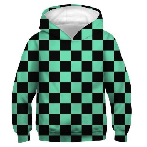 Kids Kamado Tanjirou Hoodies Demon Slayer: Kimetsu No Yaiba Pullover 3D Print Jacket Sweatshirt