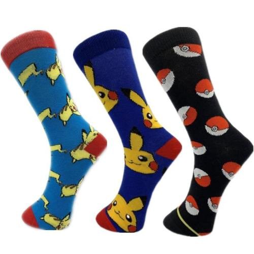 Pokemon Pikachu Pokeball Cosplay Christmas Cotton Tube Socks Stockings