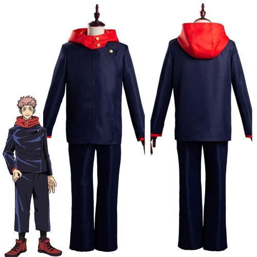 Jujutsu Kaisen-Yuji Itadori School Uniform Outfits Halloween Carnival Suit Cosplay Costume