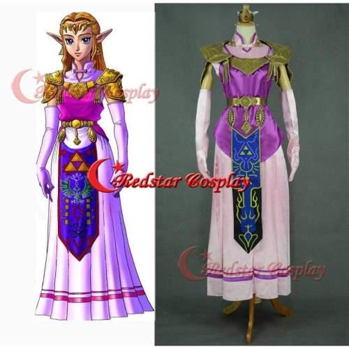Princess Zelda Cosplay Costume (Purple) From The Legend Of Zelda: Twilight Princess Custom In Any Size