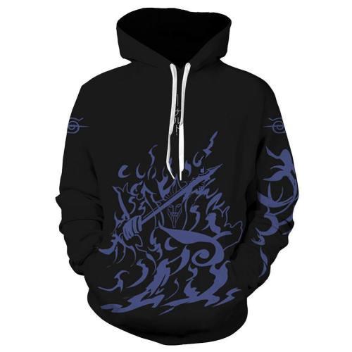 Unisex Uchiha Sasuke Hoodies Naruto Pullover 3D Print Jacket Sweatshirt