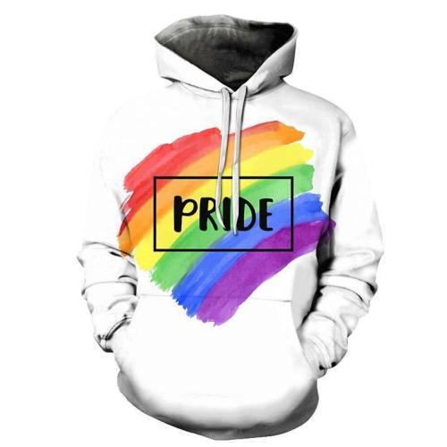 Pride White 3D - Sweatshirt, Hoodie, Pullover