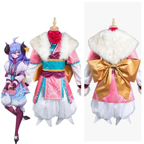League Of Legends Lol Kindred Eternal Hunters Spirit Blossom New Skin Halloween Carnival Suit Cosplay Costume