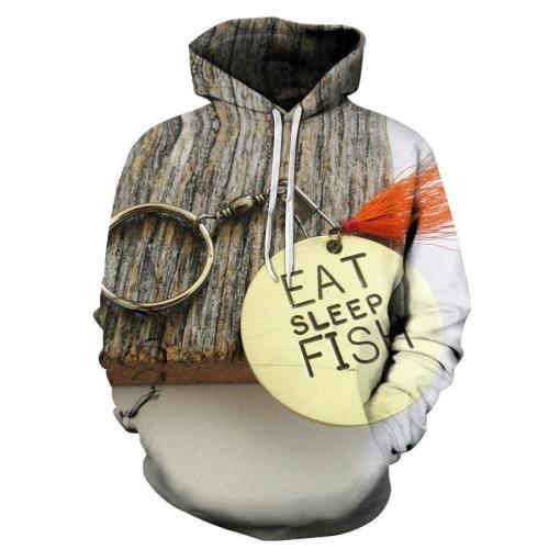 Eat, Sleep And Fish 3D - Sweatshirt, Hoodie, Pullover