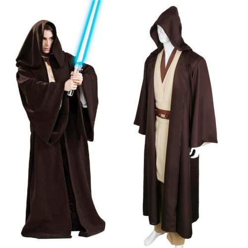 Star Wars Jedi/Sith Knight Anakin Cloak Cosplay Hooded Robe Cloak Cape Halloween Cosplay Costume