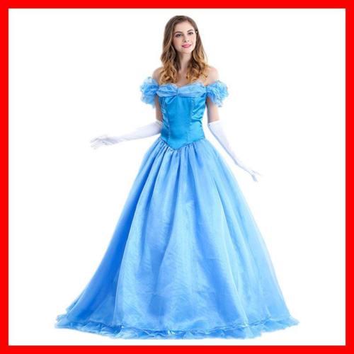 Cinderella Snow White Bella Blue Dress Princess Dress Costume
