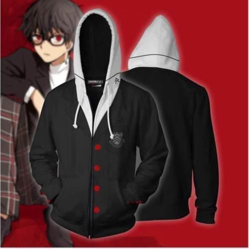 Persona 5 Hoodie -  Akira Kurusu Zip Up Hoodie