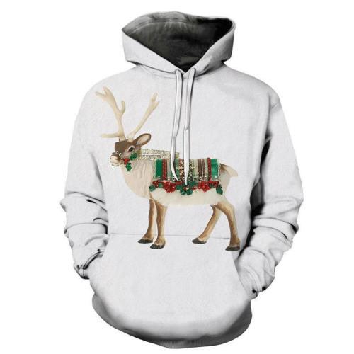 Santa'S Reindeer Christmas 3D - Sweatshirt, Hoodie, Pullover