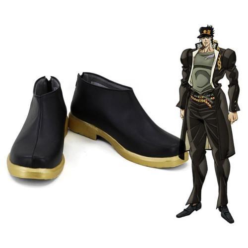 Jojo'S Bizarre Adventure Kujo Jotaro Boots Halloween Costumes Accessory Cosplay Shoes