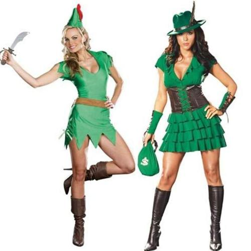 Peter Pan Wizard Heroine Elf Dress Carnival Anime Cowboy Costumes
