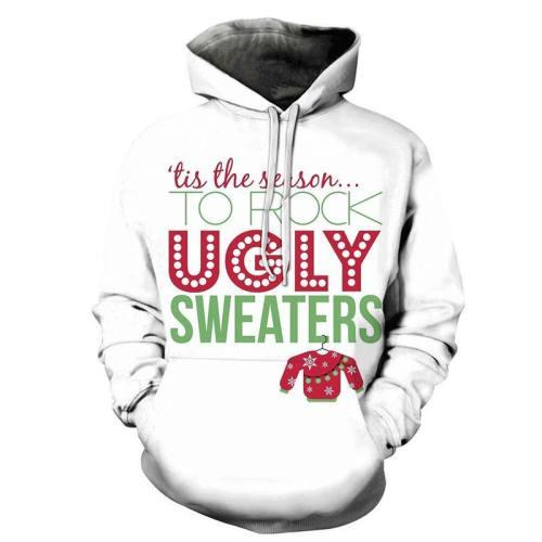 Ugly Sweaters Christmas Hoodie - Sweatshirt, Hoodie, Pullover