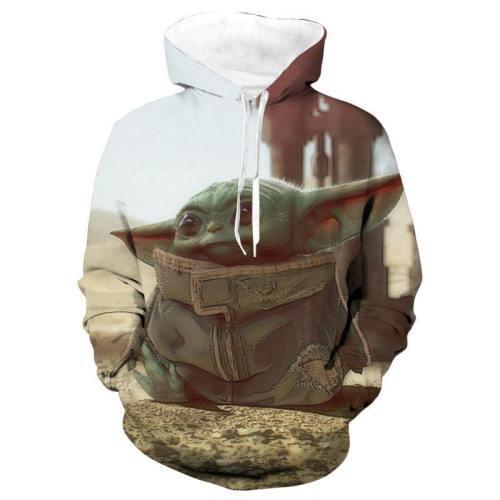 Star Wars The Mandalorian Baby Yoda #1 Pullover Hoodie Jacket Coat Sweatshirts Man Women Cosplay Star Wars Costume Prop