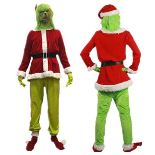 The Grinch Costume Suit Father Christmas Cosplay