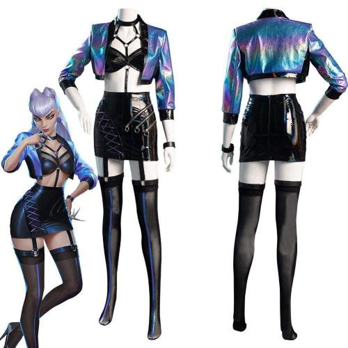League Of Legends Lol Kda Agony'S Embrace Evelynn Women Skirt Outfits Halloween Carnival Suit Cosplay Costume