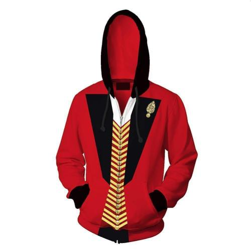 Unisex P.T. Barnum Hoodies The Greatest Showman Zip Up 3D Print Jacket Sweatshirt