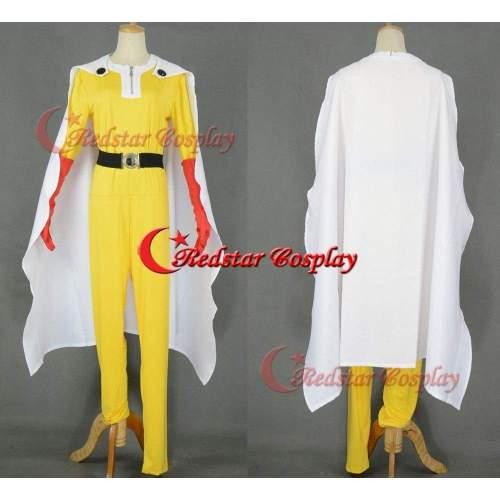 One Punch-Man Wanpanman Saitama Full Cosplay One Punch Man Costume Handmade