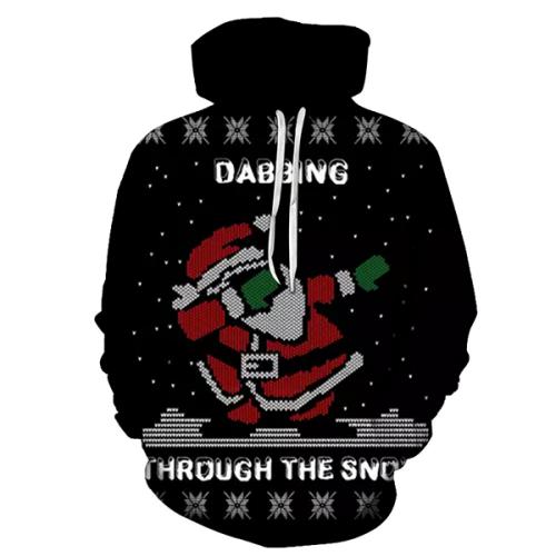 Santa Dabbing Through The Snow Hoodie - Sweatshirt, Hoodie, Pullover