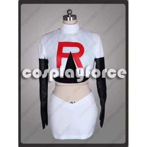 Pokemon Team Rocket Jessie Cosplay Costume