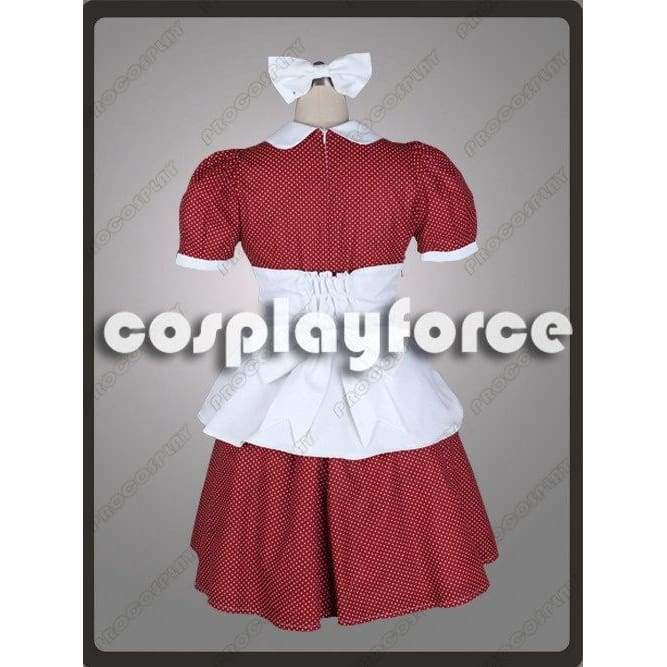 Bioshock Little Sister Burgandy Cosplay Costumes With White Dots