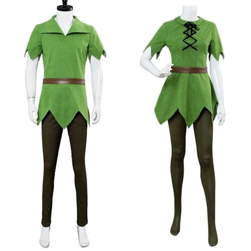 Movie Peter Pan Adult Men Women Halloween Party Cosplay Costumes
