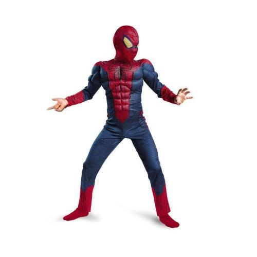 Kids Spiderman Muscle Cosplay Halloween Carnival Costumes Jumpsuit