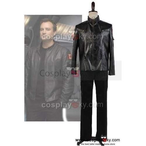 Stargate Sg-1 Dr. Rodney Mckay Leather Jacket Costume Cosplay