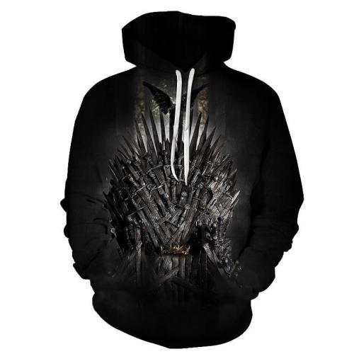 Got Inspired -The Iron Throne - 3D Hoodie Sweatshirt Pullover