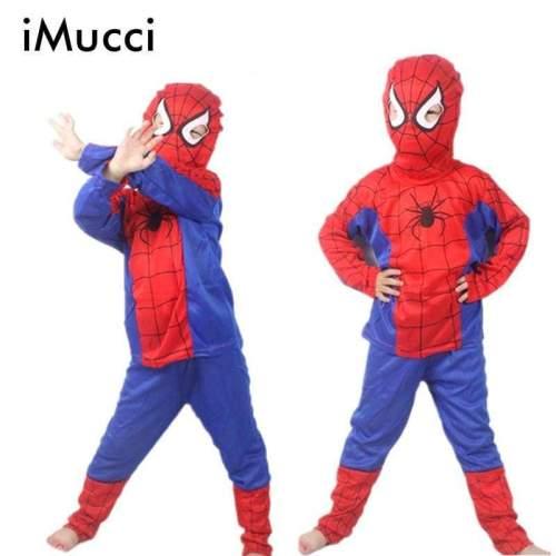 Spider Man Children Clothing Sets Spiderman Halloween Party Cosplay Costume Kids Long Sleeve Super Hero Batman Suits