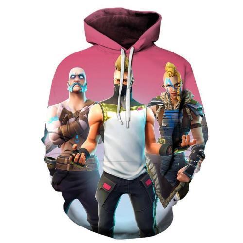 Fortnite Male Characters 3D - Sweatshirt, Hoodie, Pullover