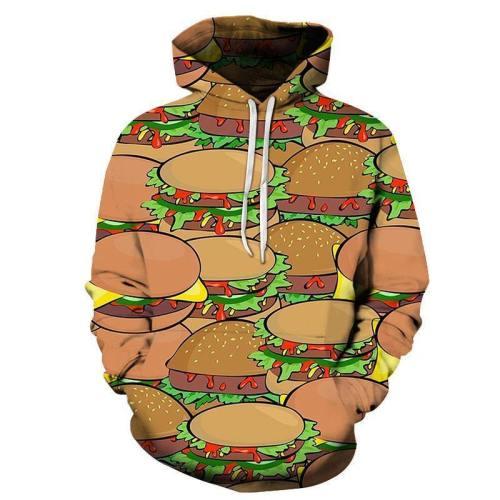 Multiple Burgers 3D Hoodie