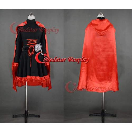 Rwby Red Ruby Rose Cosplay Costume Custom In Any Size