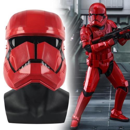 Star Wars 9 The Rise Of Skywalker Sith Trooper Red Helmet Mask Latex Kylo Ren Jedi Cosplay Halloween Star Wars Helmets Mask Prop